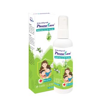 Xịt da chống muỗi PlasmaKare 100ml 2 IN 1: Chống muỗi, sát trùng giảm ngứa trị muỗi đốt